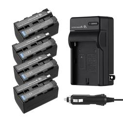 5200mah NP-F750 Li-ion Battery +Charger For Sony NP-F770 NP-