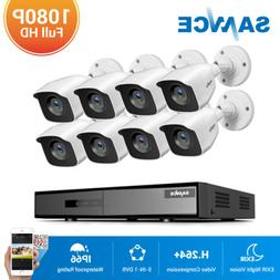 SANNCE 5in1 8CH DVR Outdoor HD 1080P Security Camera System