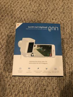 BRAND NEW! Ring Spotlight Cam Security Camera White WIRED