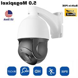 Built-in POE Outdoor PTZ IP Camera 5MP Super HD 30X Optical