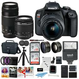 Canon EOS Rebel T7 DSLR Camera 18-55 and 75-300 Double Zoom
