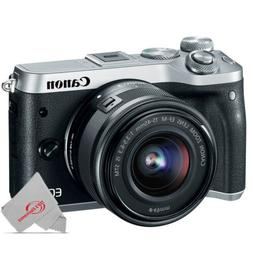 Canon EOS M6 Mirrorless Digital Camera With 15-45mm Lens SIL