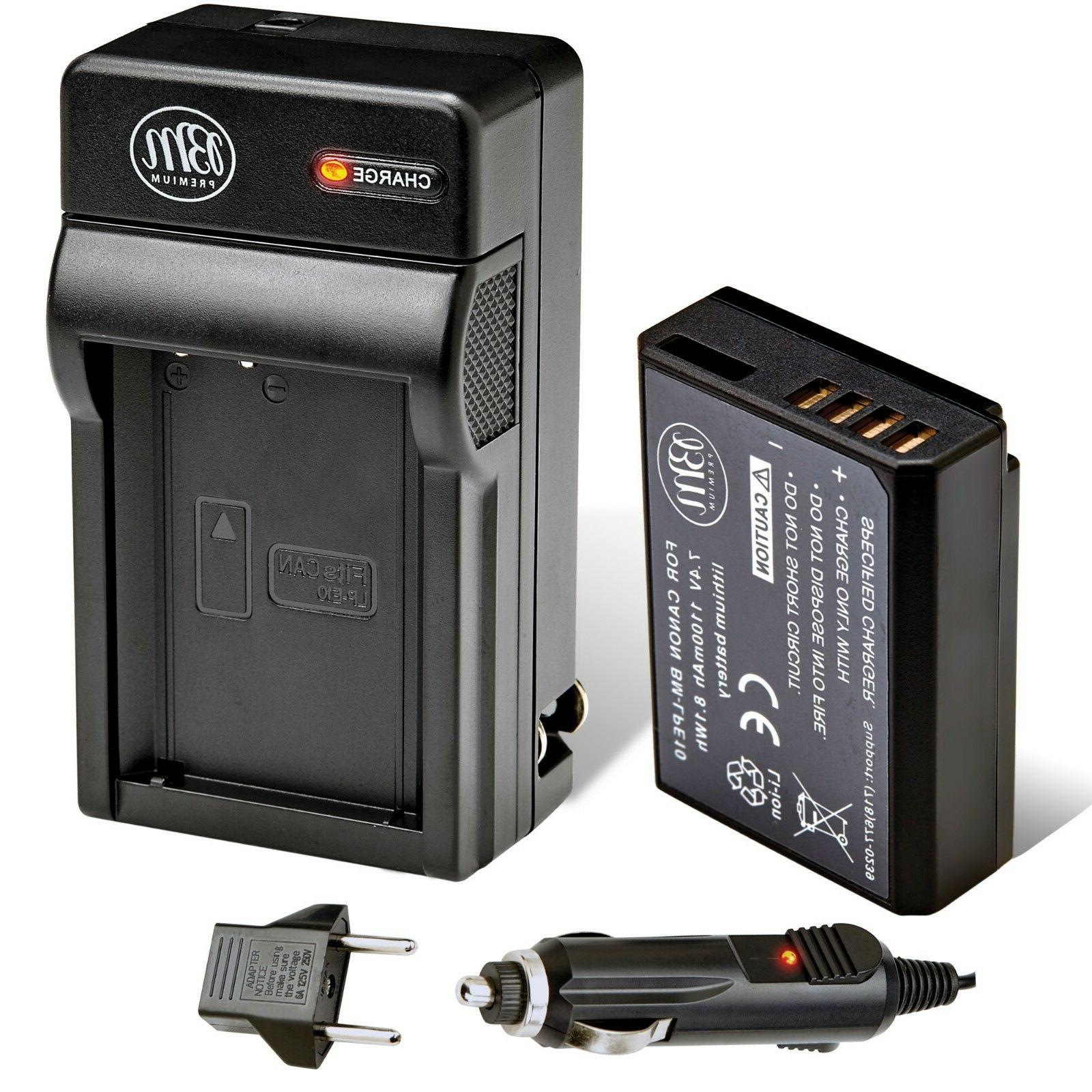 BM Premium LP-E10 Battery and Charger Kit for Canon EOS Rebe
