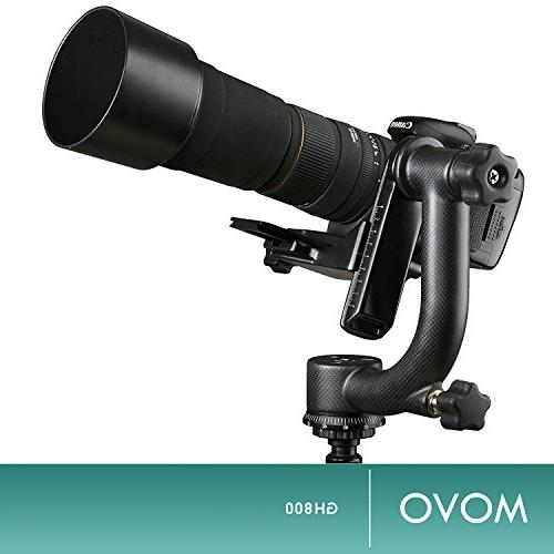 Movo GH800 Fiber Professional Gimbal Head with Arca-Swiss Plate Photography