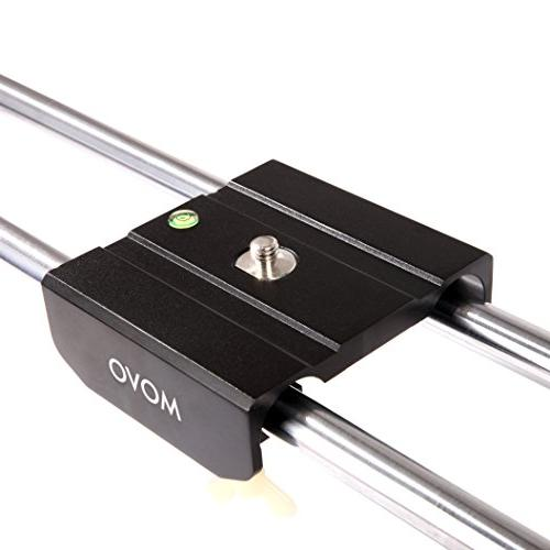 Movo Rail Camera Slider With Linear Bearing Sliding Platform with Case