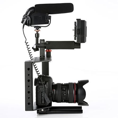 Movo SCG-30 Universal Aluminum DSLR with Top Shoe Mount and Rods