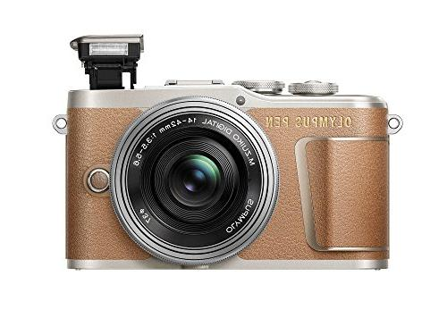 Olympus PEN E-PL9 kit with EZ Camera Bag, and Card, Honey