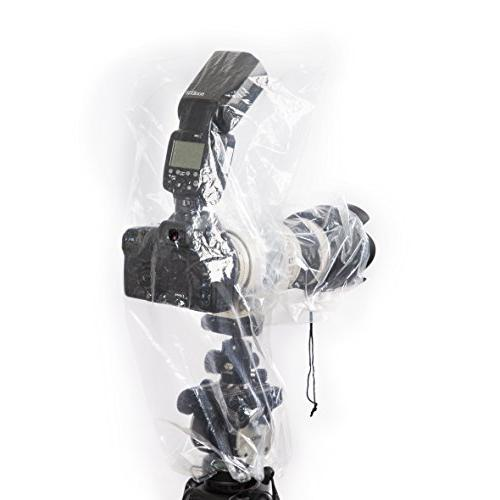 Movo RC2 Clear Rain Cover Flash, Lens to