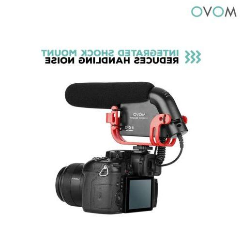 Movo Microphone for Canon, Sony DSLR Camera