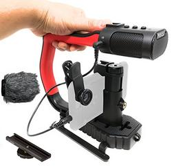 Movo MicRig Extreme Sport Edition - Video Grip Handle with I
