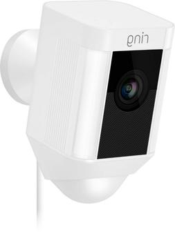 Ring Spotlight Cam Wired Plugged-in HD Security with Two-Way