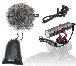 Movo VXR10GY Video Camera Microphone with Shock Mount, Deadc