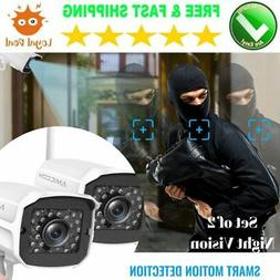 WIFI Security Cameras System for Wireless Homes Outside Outd
